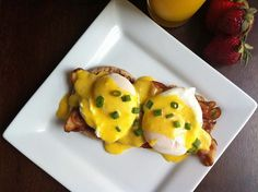 Eggs Benedict with a little kick in the hollandaise.