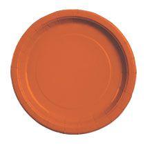 "Orange Paper Party Plates, 9"", 20-ct. Packs"