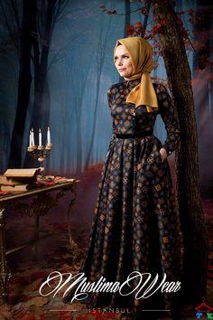 Altın Desenli Elbise | Armine | Setrms | Kayra | Aker | Alvina
