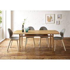 創業84年老舗テーブル・チェアメーカーが、細部の仕上げにこだわった国産のダイニングテーブル。天板の両サイドに丸みを付けた北欧風のデザインと、人気のオーク材を使用したナチュラルな食卓テーブル。