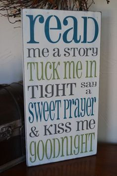 Read Me A Story Tuck Me In Tight Say A Sweet by CreativeTouchWood