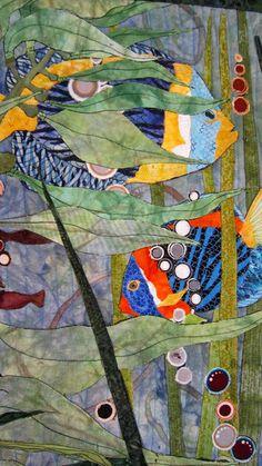 Barbara Strobel Lardon Art quilts: Creatures