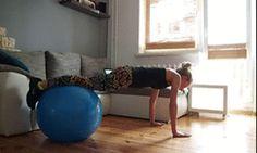 Ćwiczenia z piłką (gify)