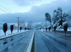 a road in Abbotabad, Pakistan