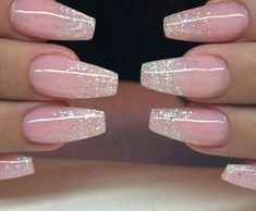 Uploaded by Pea. Find images and videos about pink, nails and glitter on We Heart It - the app to get lost in what you love. Fabulous Nails, Gorgeous Nails, Pretty Nails, Prom Nails, Wedding Nails, Polygel Nails, Fancy Nails, Love Nails, Nagel Gel
