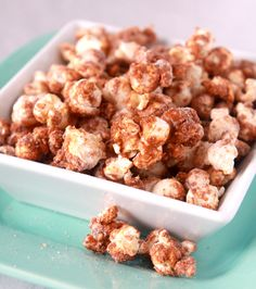 Churro Popcorn  ~  Now you don't have to wait for a summertime carnival to come into town. You can whip up a batch of this super simple churro popcorn and munch the night away with reckless abandon.