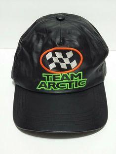 9fbeeb1f Rare Vintage Team Racing Arctic Cat Snowmobile Genuine Leather Adjustable  Cap #ArcticCat #BaseballCap