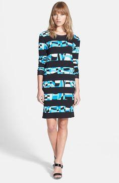 MICHAEL Michael Kors Stripe Print Long Sleeve Dress available at #Nordstrom
