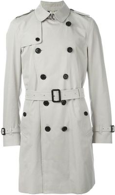 Burberry London - Cotton-blend trench coat- I want to own one some day Pink Trench Coat, Double Breasted Trench Coat, Burberry Coat, Burberry Classic, Burberry Store, Classic Wardrobe, Wardrobe Basics, Mantel, Coats