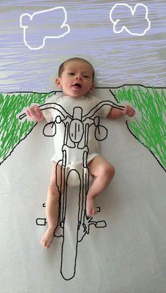 maman fait des dessins sur les photos de bebe 1   Maman fait des dessins sur les photos de bébé   photo image dessin bébé Ambre Wheeler