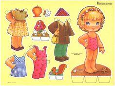 Bonecas de papel: Bonecas de papel cabeçudas I
