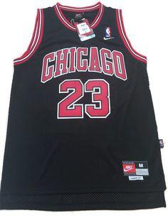 d81a6edf9 NBA Chicago Bulls Michael Jordan Hardwood Classic Sewn Stitched Black Jersey   23