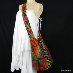 Tie Dye Sling Bag Messenger Crossbody Buddha by BenThaiProducts, $13.99