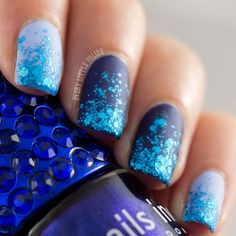 Every Little Polish: Aussie Nails Monday: Blue & March Nail Art Challenge: Sparkles