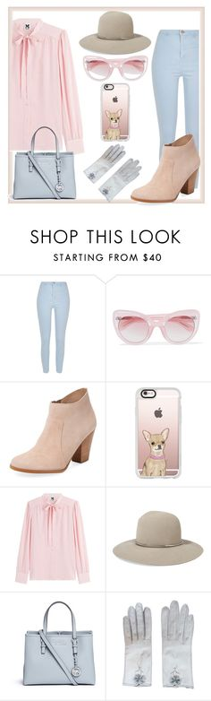 """""""Pink and Blue"""" by bambi-52 ❤ liked on Polyvore featuring River Island, Erdem, Maiden Lane, Casetify, M Missoni, Janessa Leone, Michael Kors and Hermès"""