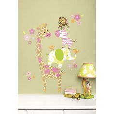safari wall decals for decorating your nursery.