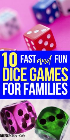 Games are a great way to connect as a family. Check out these 10 dice games for kids and families- they are fun, portable, and easy play. Best of all, most of them bring in a little math practice t… Family Card Games, Fun Card Games, Card Games For Kids, Games For Teens, Cool Games, Easy Kid Games, Best Family Games, Family Family, Games To Play With Kids