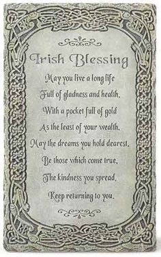 Irish Blessing: May you live a long life full of gladness and health, with a pocket full of gold as the least of your wealth. May the dreams you hold dearest, be those which come true. The kindness you spread, keep returning to you. - by Joseph Studio Irish Prayer, Irish Blessing, Irish Birthday Blessing, Blessing Poem, Irish Quotes, Irish Sayings, Irish Poems, Sweet Sayings, Immigration Quebec