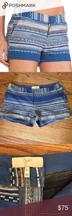 "Joie Merci Shorts Size 10 (Medium / Large) Joie Merci Size 10 Shorts | Excellent condition, like New, worn 1-2 times | multi stripe | Blue Lapis | waist 17.5"" | inseam 11"" Joie Shorts"