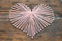 Cute #Valentine's Art with Baker's Twine @ Domestically-Spea...