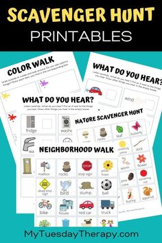 Keep the kids busy with fun scavenger hunt printables. Fun things to do with kids at home. Activity for preschoolers. # Free Scavenger Hunt Printables for Kids Home Learning, Preschool Learning, In Kindergarten, Learning Activities, Speech Activities, Educational Activities, Teaching Kids, Outdoor Scavenger Hunts, Scavenger Hunt For Kids