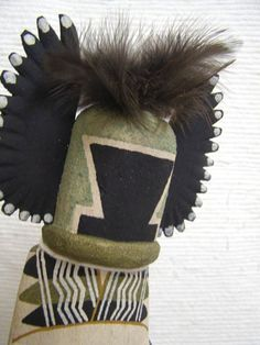 Old Style Hopi Carved Crow Mother Traditional Katsina Doll