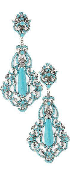 Ᏸɽҽaƙʄaʂʈ aʈ Ƭ¡ʄʄaŋƴ'ʂ Jade Jewelry, Jewelry Accessories, Jewelry Design, Neiman Marcus, Vintage Jewelry, Unique Jewelry, Fantasy Jewelry, Turquoise Earrings, Clip On Earrings