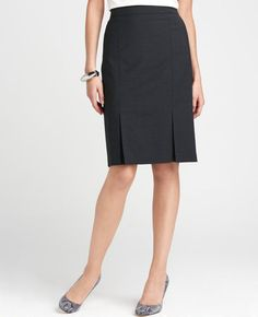 I think this skirt by Ann Taylor is stylish and would pass Moot Court muster. If I decide that gray is OK I'm definitely getting this set!