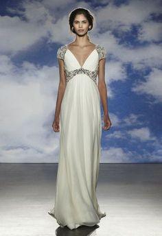 vestido de noiva noa de jenny packham 2015 com cinto e mangas em pedraria #casarcomgosto
