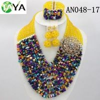 Source trendy stones beads necklace earring sets with stones brooch on m.alibaba.com