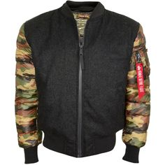 Alpha Industries Expedition Bomberjacke Dunkelgrau Camouflage