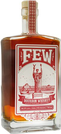 Few Spirits' Bourbon Whiskey - One of the Midwest's best bourbons, the rich flavors of the northern rye are as cool as the distillery behind it. Smooth, well-balanced, and the abv was wisely set at 46.5%. / www.FewSpirits.com