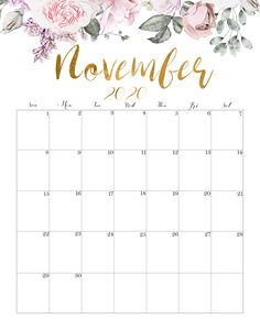 Calendar November 2020 Cute 10 Best November 2020 Calendar Ideas and Inpiration Design-Making artwork is not easy, we must have a lot of imagination and inspiration. This time we. Printable Blank Calendar, Cute Calendar, Printable Calendar Template, Print Calendar, Calendar Design, Templates Printable Free, Printable Designs, Printable Planner, Monthly Calendars