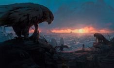 fantasy concept art, eagle