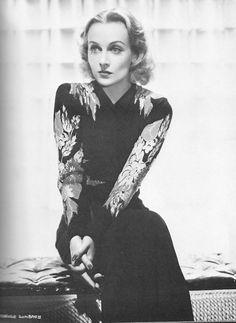 Actress Carole Lombard.