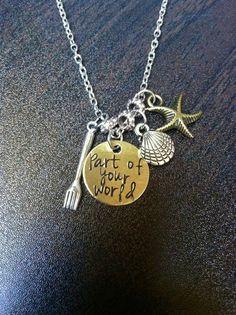 Little Mermaid Inspired Part of Your World Charm by byAmandaJane, $22.00