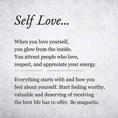 "Self Love Quote Discover Self Love Quotes that will make you say ""I love Myself Truly Madly Deeply"" Do you need insiprations & quotes to love yourself? Check out the best Self love quotes and learn to love yourself truly madly and deeply. Self Love Quotes, Love Yourself Quotes, Loving Myself Quotes, Poems About Loving Yourself, Being Loved Quotes, Gods Love Quotes, Change Quotes, Self Love Poems, Jolie Phrase"