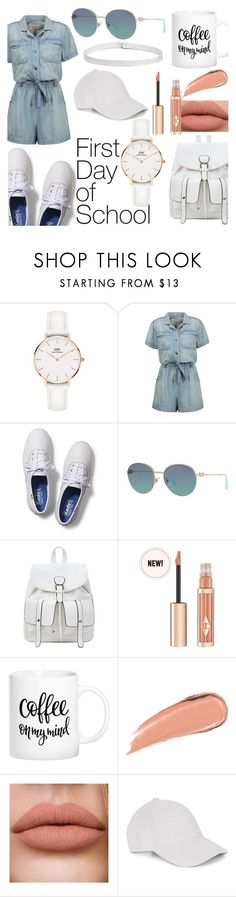 """""""First Day of School"""" by natasha-388 ❤ liked on Polyvore featuring Daniel Wellington, Current/Elliott, Keds, Tiffany & Co. and Le Amonie"""