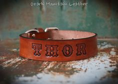 A sample of what will be on site at #EtsyFest15 on Saturday, April 25 in Hillcrest! @Etsy #etsy #etsylr #handmade #shoplocal #livelocal Custom leather dog collar XL size with by OzarkMountainLeather
