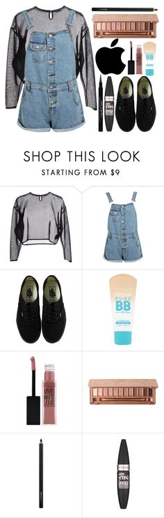 """Back2School"" by itsfashioninfinity ❤ liked on Polyvore featuring Yves Saint Laurent, Boohoo, Vans, Maybelline, Urban Decay, MAC Cosmetics and Givenchy"
