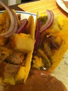 Pork Tacos...Another Delicious Budget Gluten Free Meal.