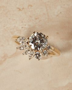 The Sarah Ring Setting – Après Jewelry Engagement Ring Shapes, Dream Engagement Rings, Intricate Engagement Ring, Flower Shaped Engagement Ring, Unconventional Engagement Rings, Vintage Inspired Engagement Rings, Crown Promise Ring, Promise Rings, Wedding Rings Vintage