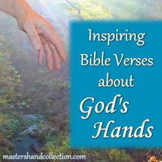 "As you read these Inspiring Bible Verses about God's hands , I pray they will speak to your heart and you will be reminded of a time that His hands were ""visible"" in your life. May you feel the healing touch of God's hands on you today! Encouraging Bible Verses, Favorite Bible Verses, Bible 2, Christian Women Blogs, Christian Life, Words Of Hope, Bible Knowledge, Spiritual Growth, Psalms"