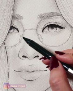 Asian girl sketching asian sketching, is part of pencil-drawings - pencil-drawings Pencil Art Drawings, Art Drawings Sketches, Easy Drawings, Drawing Faces, Girl Sketch, Beautiful Drawings, Beautiful Pictures, Art Tutorials, Watercolor Art