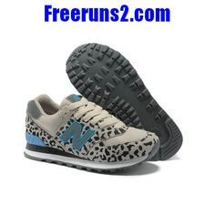 New Balance 574 Leopard Print edition Blue Gray women NB Shoes