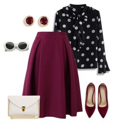 """""""outfit 3924"""" by natalyag ❤ liked on Polyvore featuring Chicwish and Kevin Jewelers"""