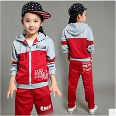 2d4c91b706193 Girls Sport Suits 2017 New Style Autumn Spring Children s Tracksuits for  Boys Long Sleeve Coat Pant Two-piece Kids Clothing Set