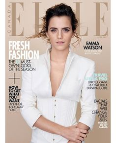 Activist/actress/soon to be Disney princess #EmmaWatson is our April 2017 cover star! Pick up your copy when it hits newsstands March 13...or hit the link in bio for our full interview with Emma now.  @kerryhallihan  via ELLE CANADA MAGAZINE OFFICIAL INSTAGRAM - Fashion Campaigns  Haute Couture  Advertising  Editorial Photography  Magazine Cover Designs  Supermodels  Runway Models