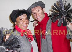 VICTORIAN THEMED ENTERTAINMENT - FUN CHIMNEY SWEEP WALKABOUT ACT