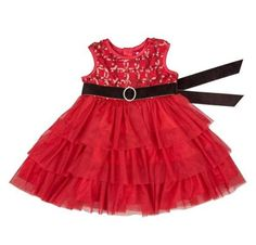 New Mud Pie RED ROSETTE PARTY DRESS Christmas Holiday Valentines 12-18 mos gift